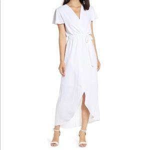 Fraiche by J High/Low Wrap Dress